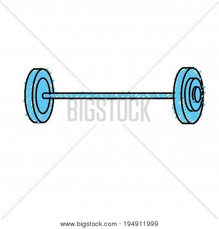 dumbbell fitness tool to do exercise and training vector illustration