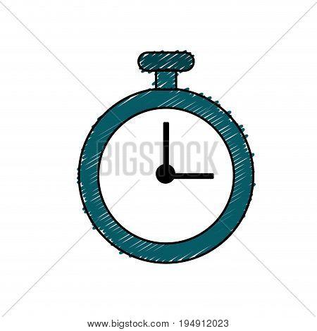 chronometer element to training sport vector illustration