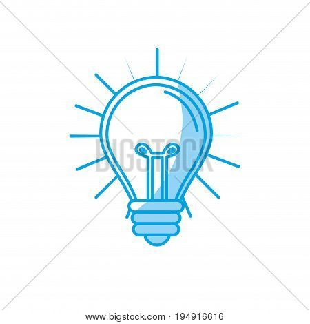 silhouette light bulb idea to creative invention vector illustration