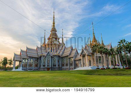 Landmark of wat Thai Beautiful temple in Thailand.