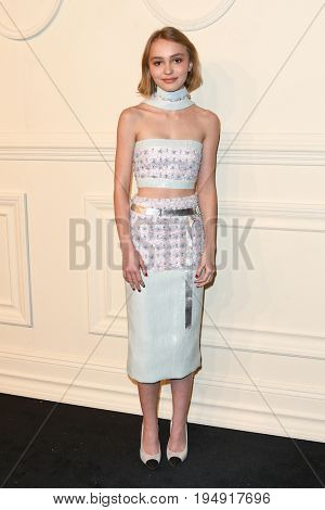 NEW YORK-MAR 31: Actress Lily Rose Depp attends the CHANEL Paris-Salzburg 2014/15 Metiers d'Art Show and Party at the Park Avenue Armory on March 31, 2015 in New York City.