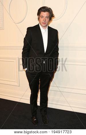 NEW YORK-MAR 31: Singer/songwriter Benjamin Biolay attends the CHANEL Paris-Salzburg 2014/15 Metiers d'Art Show and Party at the Park Avenue Armory on March 31, 2015 in New York City.