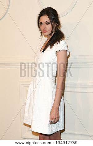 NEW YORK-MAR 31: Actress Phoebe Tonkin wearing white cotton dress attends the CHANEL Paris-Salzburg 2014/15 Metiers d'Art Show and Party at the Park Avenue Armory on March 31, 2015 in New York City.