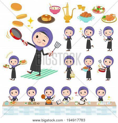 Arab Woman Cooking