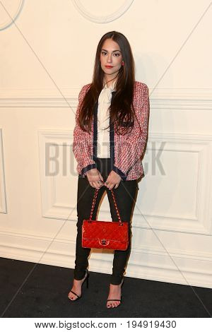 NEW YORK-MAR 31: Public Relations consultant Audrey Gelman attends the CHANEL Paris-Salzburg 2014/15 Metiers d'Art Show and Party at the Park Avenue Armory on March 31, 2015 in New York City.