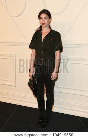 NEW YORK-MAR 31: Actress Rainey Qualley attends the CHANEL Paris-Salzburg 2014/15 Metiers d'Art Show and Party at the Park Avenue Armory on March 31, 2015 in New York City.