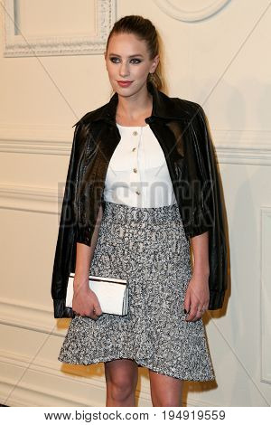 NEW YORK-MAR 31: Actress Dylan Penn attends the CHANEL Paris-Salzburg 2014/15 Metiers d'Art Show and Party at the Park Avenue Armory on March 31, 2015 in New York City.