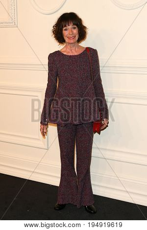 NEW YORK-MAR 31: Actress Geraldine Chaplin attends the CHANEL Paris-Salzburg 2014/15 Metiers d'Art Show and Party at the Park Avenue Armory on March 31, 2015 in New York City.