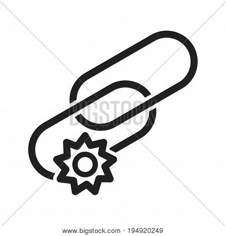 Link, optimization, web icon vector image. Can also be used for IT services. Suitable for use on web apps, mobile apps and print media.