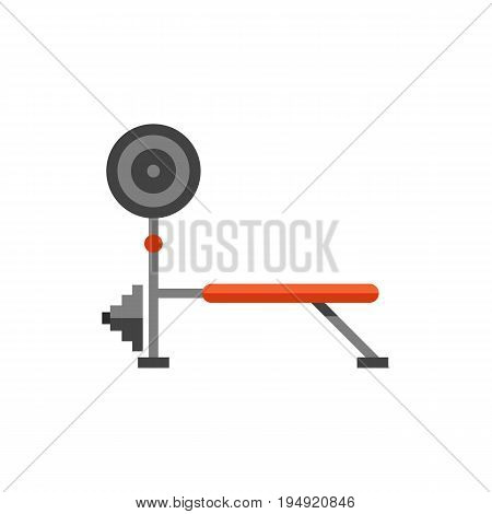 Icon of weight training simulator icon. Gym, fitness, equipment. Sport concept. Can be used for topics like healthy lifestyle, bodybuilding, strength