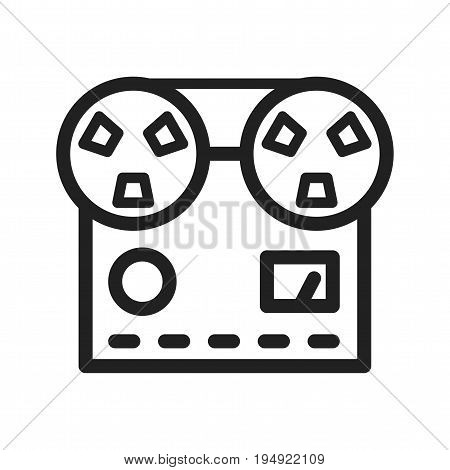 Radio, antenna, tape recorder icon vector image.Can also be used for news and media. Suitable for mobile apps, web apps and print media.