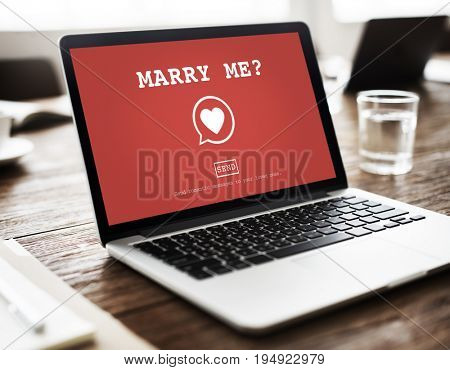 Marry Me Valentine Romance Heart Love Passion Concept