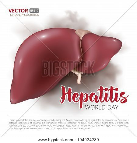 Postcard Or Banner To The World Hepatitis Day