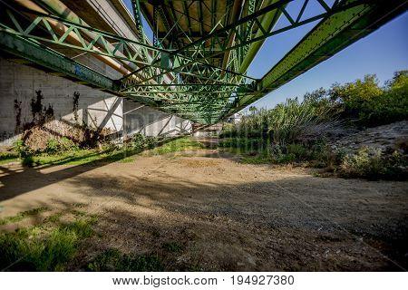 Geometric bridge in Oceanside California San Diego County