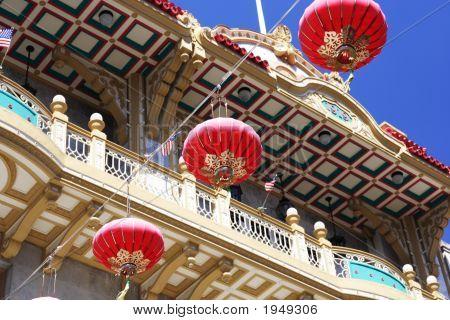 Chinese Lantern In Chinatown