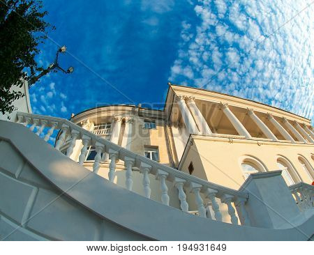 Architectural building on the seafront in the city of Sevastopol.Krim.