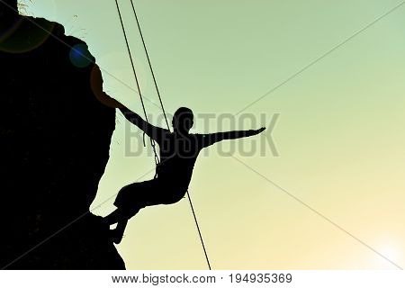 cliff the climber silhouette & professional climber silhouette
