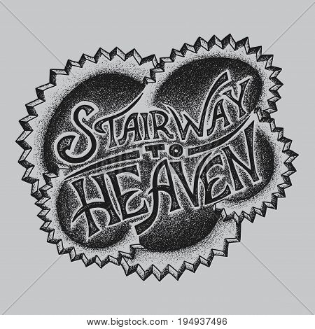 Creative Logo Design Poster with words Stairway to Heaven vector illustration