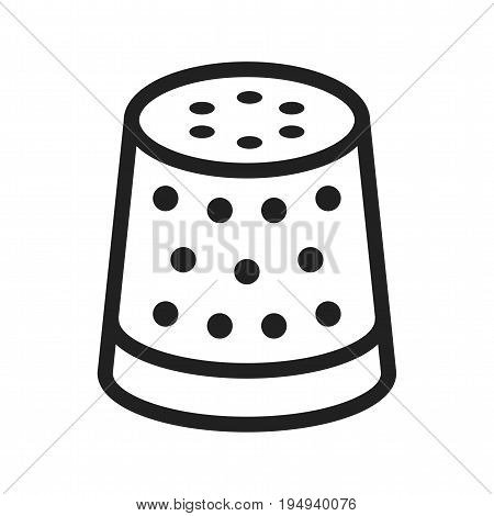 Thimble, thread, sewing icon vector image. Can also be used for Sewing. Suitable for mobile apps, web apps and print media.