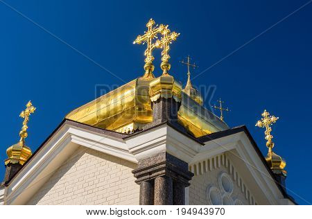 Kiev-Pechersk Lavra against the blue sky. Kiev. Ukraine