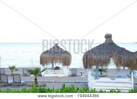 Luxury resort beach. Summer, vacantion, relax, holiday