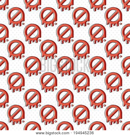 Simple deny symbol seamless pattern with dots