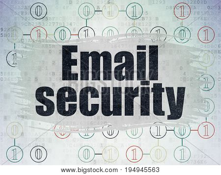 Protection concept: Painted black text Email Security on Digital Data Paper background with  Scheme Of Binary Code