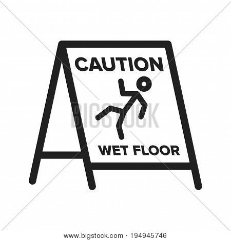 Floor, wet, sign icon vector image. Can also be used for Cleaning Services. Suitable for web apps, mobile apps and print media.
