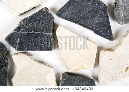Natural dolomite stones texture and surface background. Top view