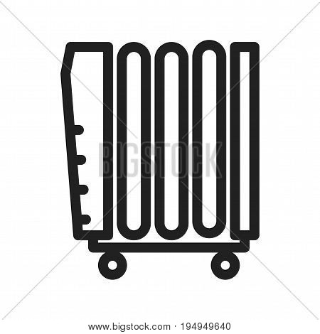 Heater, oil, natural icon vector image. Can also be used for Climatic Equipment. Suitable for mobile apps, web apps and print media.