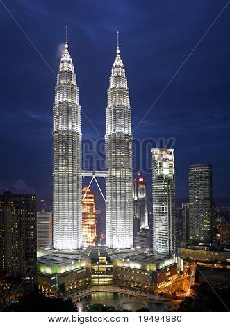 Malaysia -  Kuala Lumpur Cityscape with twin tower (large format photography)