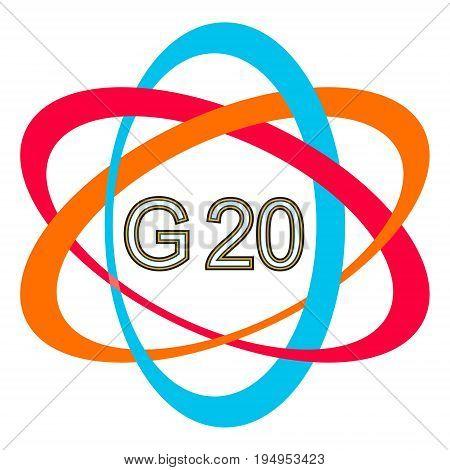 symbol logo of the G20 summit, vector icon G-20 Summit in Hamburg