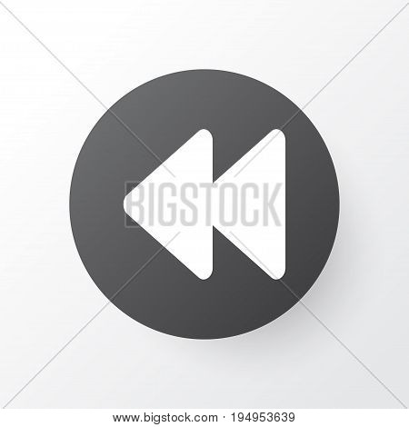 Rewind Icon Symbol. Premium Quality Isolated Backward Element In Trendy Style.