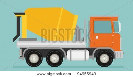 Cement mixer truck icon vector for design.