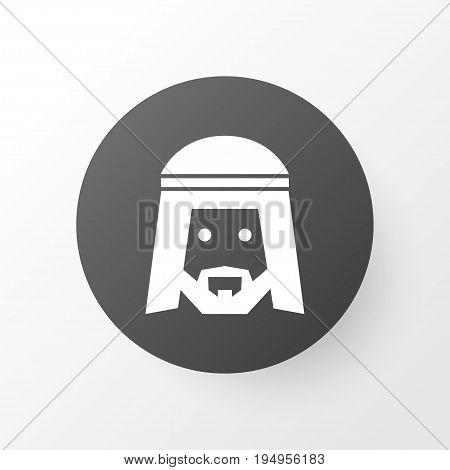 Muslim Icon Symbol. Premium Quality Isolated Human Element In Trendy Style.