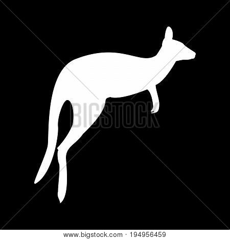 Kangaroo The White Color Icon .