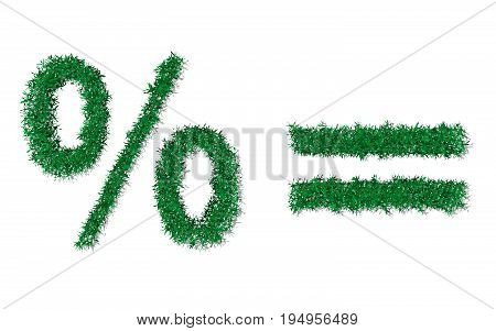 Vector Nature Garden Green Grass Texture Notations
