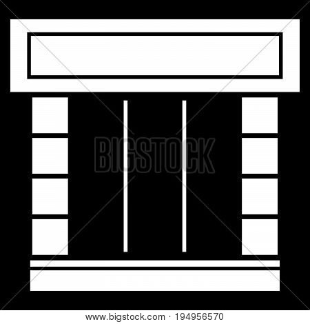 Shopfront The White Color Icon .