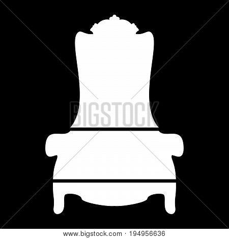 Throne The White Color Icon .