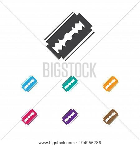 Vector Illustration Of Hairstylist Symbol On Razor Icon. Premium Quality Isolated Blade Element In Trendy Flat Style.