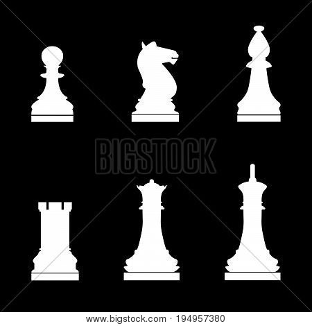 Chess Pieces The White Color Icon .
