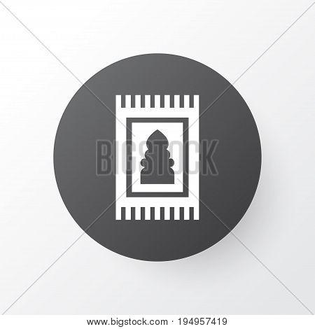 Rug Icon Symbol. Premium Quality Isolated Prayer Carpet Element In Trendy Style.