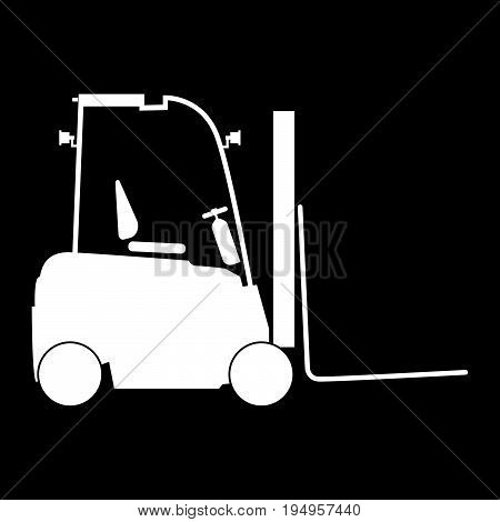 Electric Loader The White Color Icon .