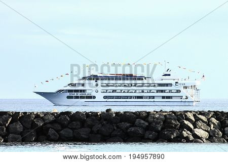 Honolulu Hawaii USA - May 30 2016 - The Star of Honolulu Cruise Ship