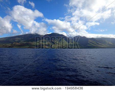 Scenery Of West Maui Near Lahaina, Hawaii.