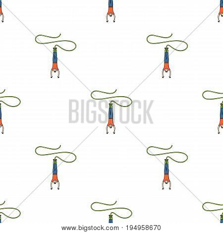 Jumping.Extreme sport single icon in cartoon style vector symbol stock illustration .