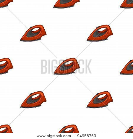 Iron for ironing. Dry cleaning single icon in cartoon style vector symbol stock illustration .