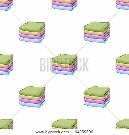 A stack of clean linen.Suhaya cleaning single icon in cartoon style vector symbol stock illustration .