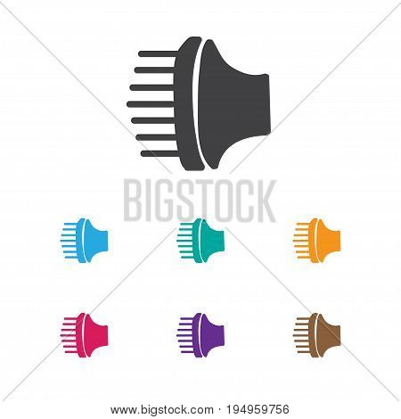 Vector Illustration Of Hairstylist Symbol On Blow Dryer Icon. Premium Quality Isolated Airflow Element In Trendy Flat Style.