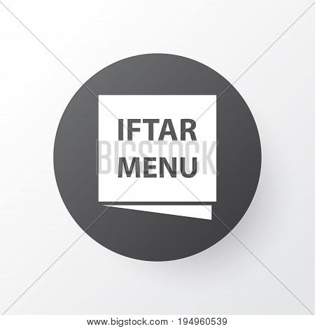 Menu Icon Symbol. Premium Quality Isolated Iftar Element In Trendy Style.